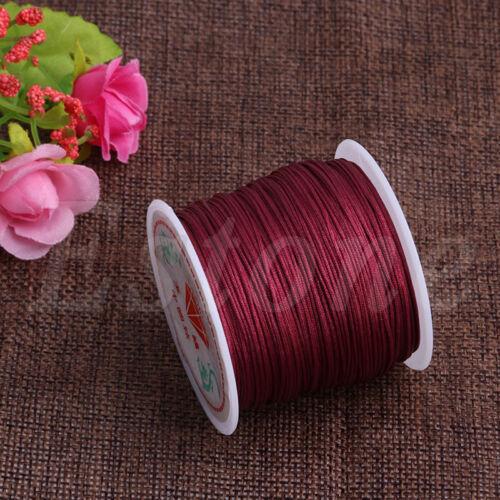 0.8mm 45M Nylon Cord Thread Chinese Knot Macrame Rattail Bracelet Braided String