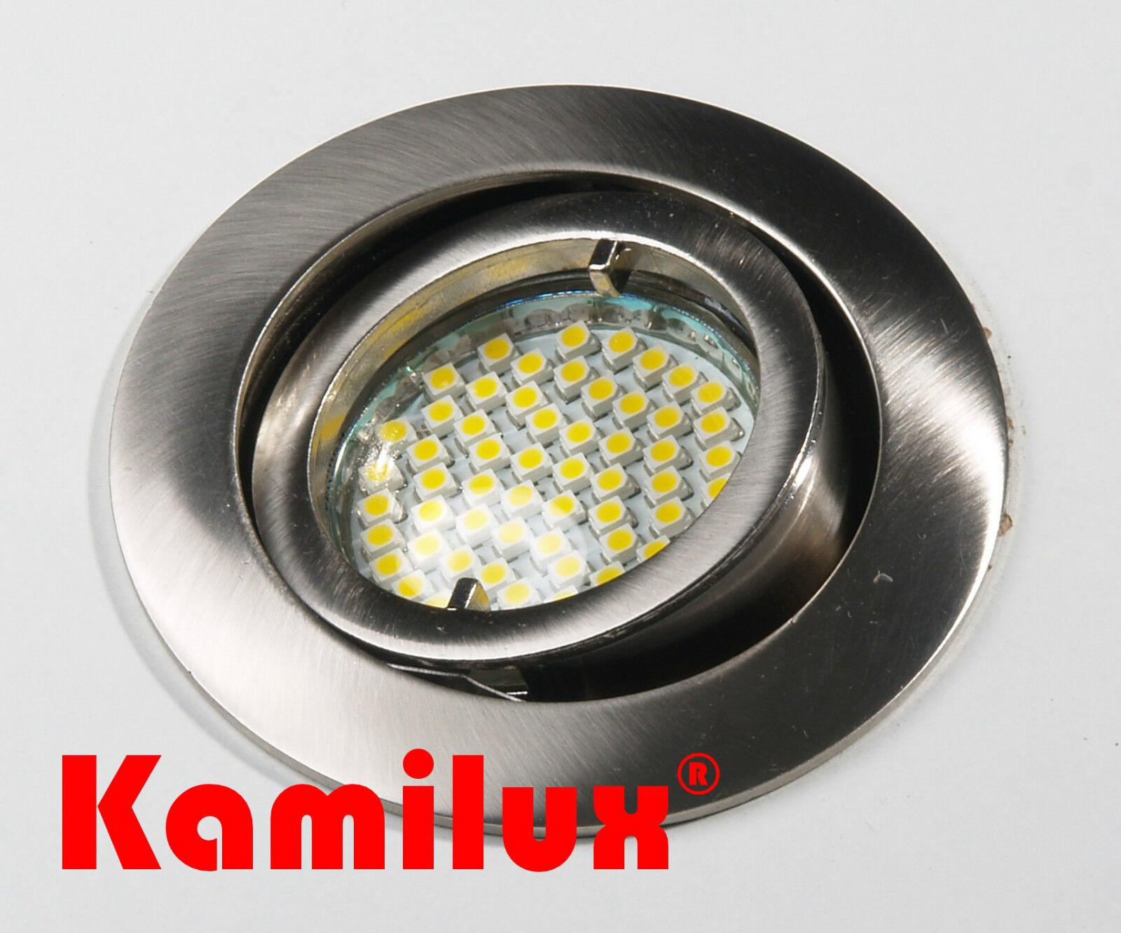 Einbaustrahler Sets Einbauleuchte inkl. LED mit nur 3W Verbrauch GU10 230V