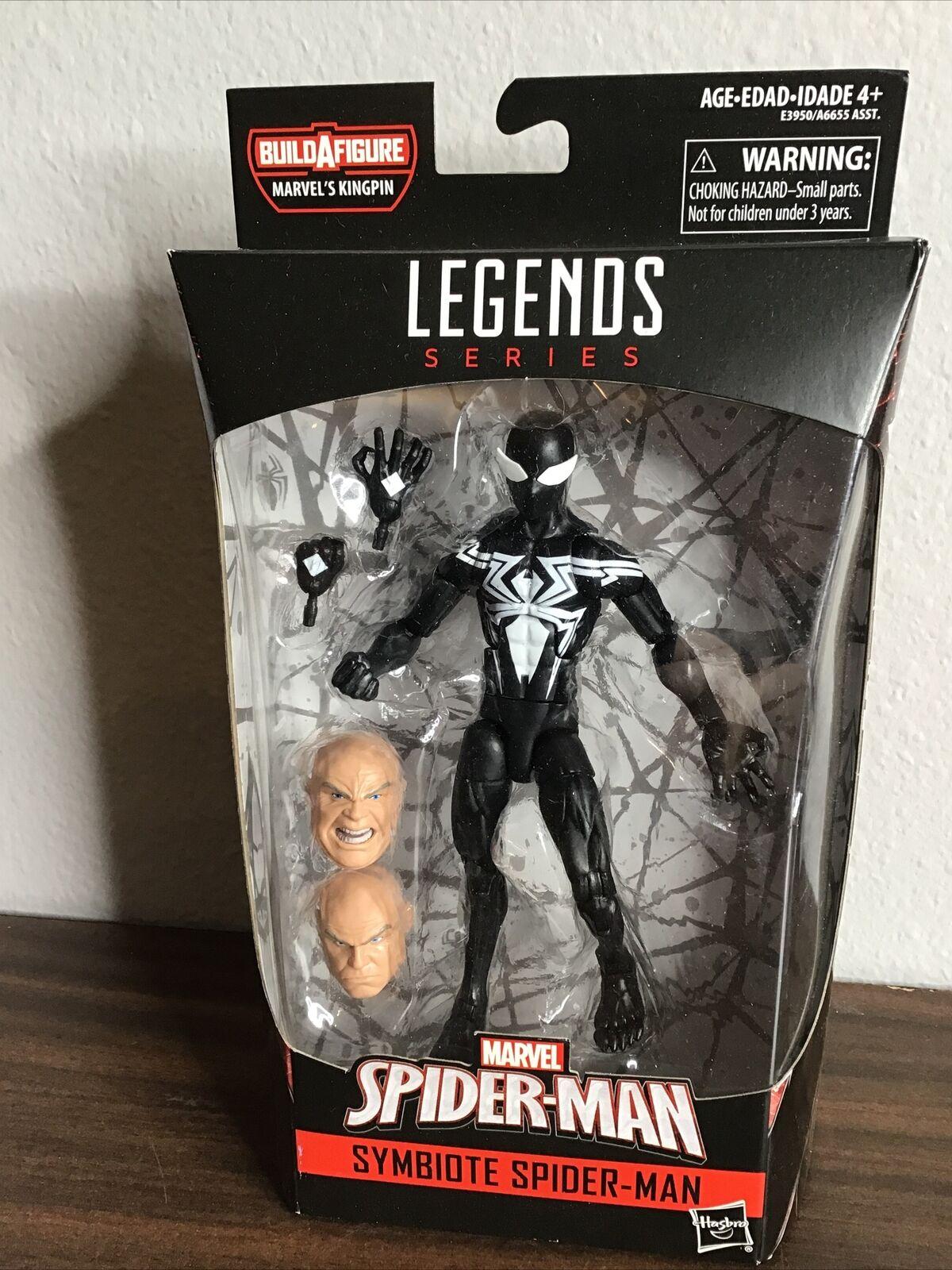 No Kingpin BAF Piece LOT 2X Marvel Legends Spider-Man Symbiote BLACK CAT KAT