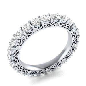 Round-Cut-blanc-saphir-Femmes-Argent-925-Bijoux-elegante-bague-de-mariage-Taille-6-10