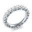 Round-Cut-blanc-saphir-Femmes-Argent-925-Bijoux-elegante-bague-de-mariage-Taille-6-10 miniature 1