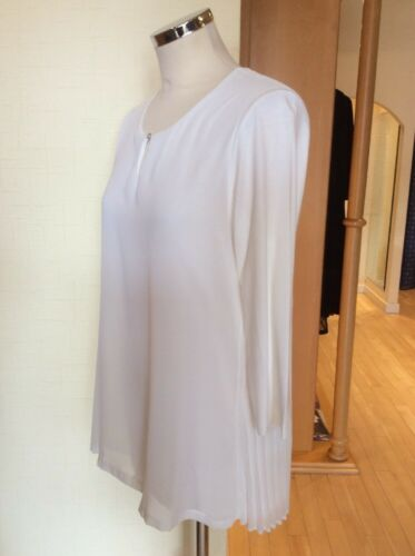 Cream Size £84 12 £38 Rrp Bnwt To Bianca Back Top Now 95 Pleated wI5qEAz