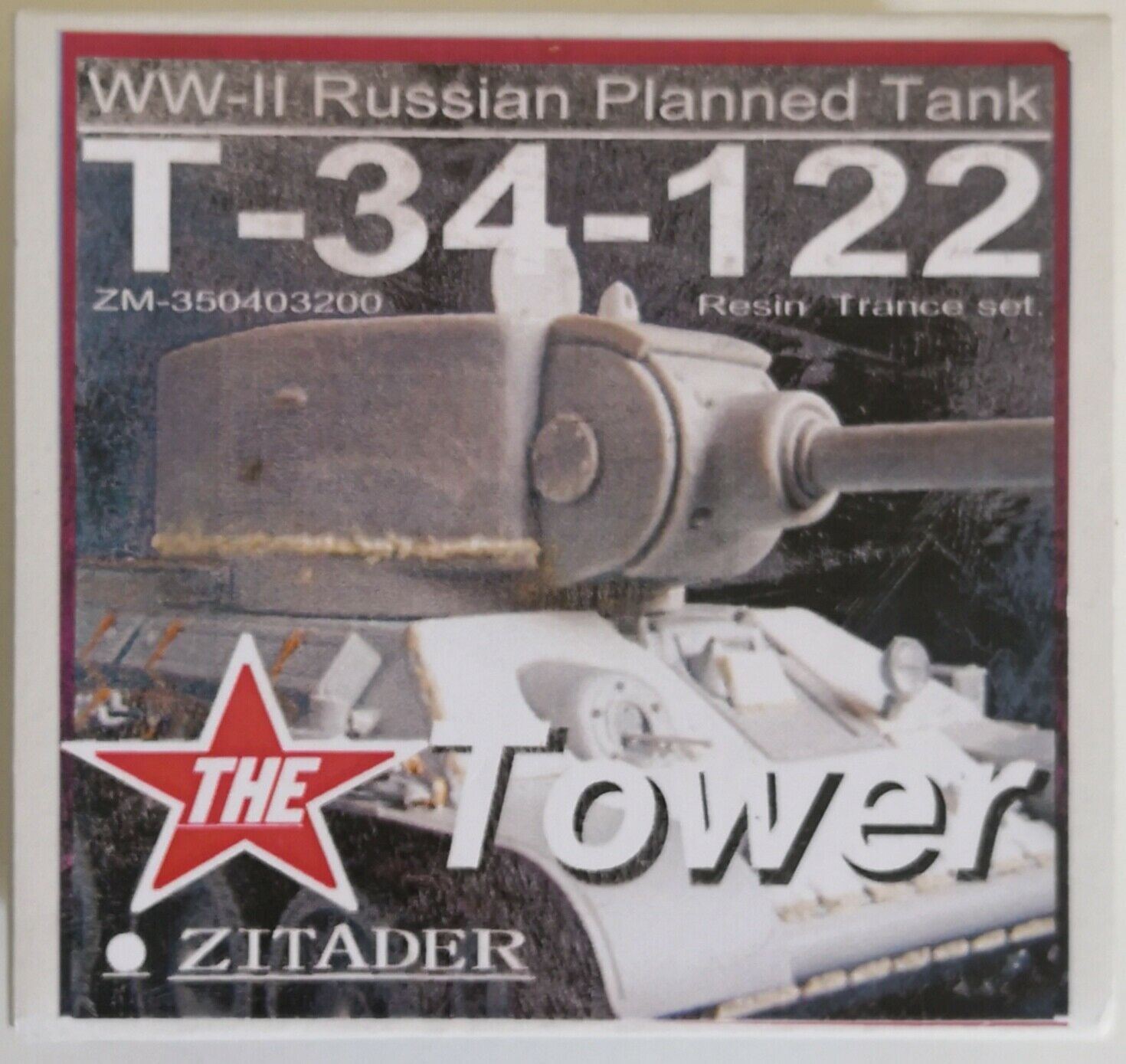 ZITADER Resin Conversion 1 35 T-34-122 Tower Turret WW2 Soviet Tank Project USSR