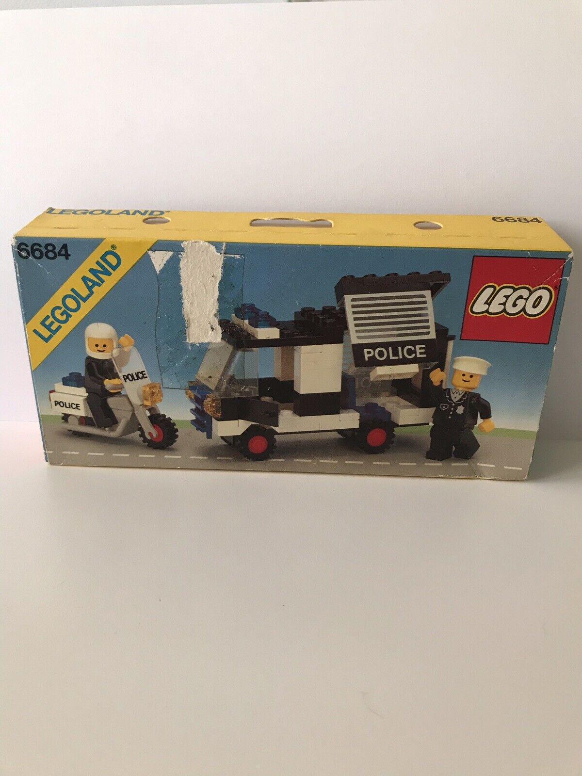 Lego Legoland Vintage Ciudad 6684 policía patrulla escuadrón Sellado Y En Caja Sellada 1984