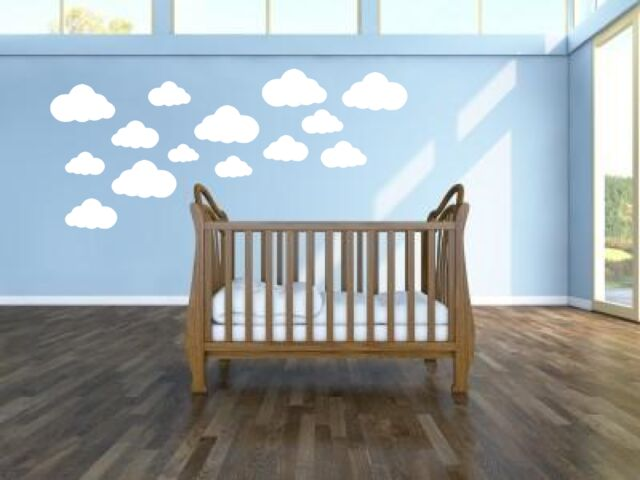 Clouds Baby childs Nursery playroom Wallstickers Wall Decals & Stickers