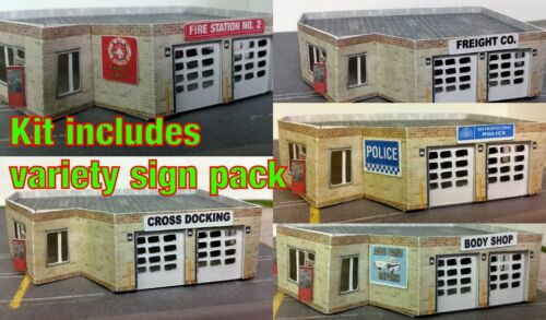 Z Scale Building Multi Purpose Building Police or Fire Station Etc Paper Kit