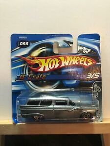 2005, Red Line, G6825-0516 Short Card Hot Wheels 8 Crate 3//5 098