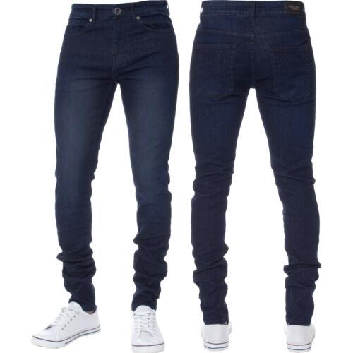 Kruze Designer Mens Super Skinny Fit Jeans Stretch Denim Trouser Pants 28''-42''