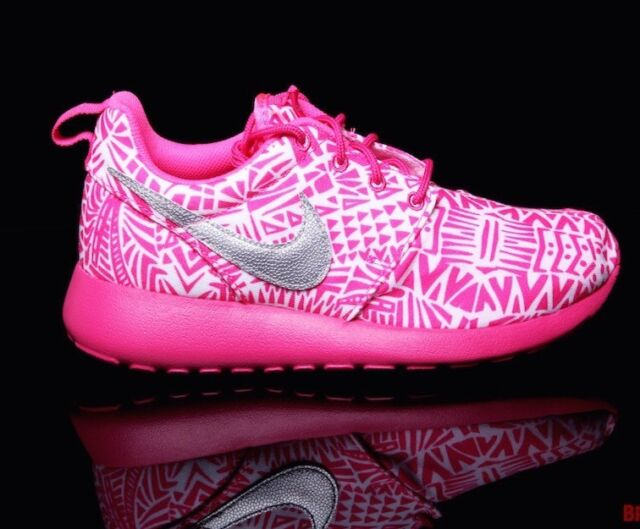 Directamente Dictadura Pensativo  NIKE ROSHE RUN Print GS Running Shoes WOMENS 8.5 = 7 Youth 100% Athletic  for sale online
