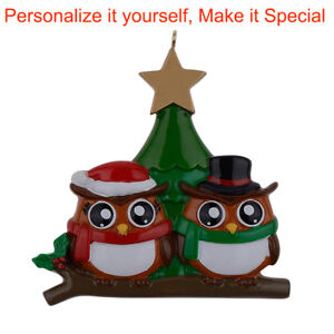 MAXORA-Personalized-Ornament-Owl-Family-of-2-3-4-5-6-Christmas-Gift
