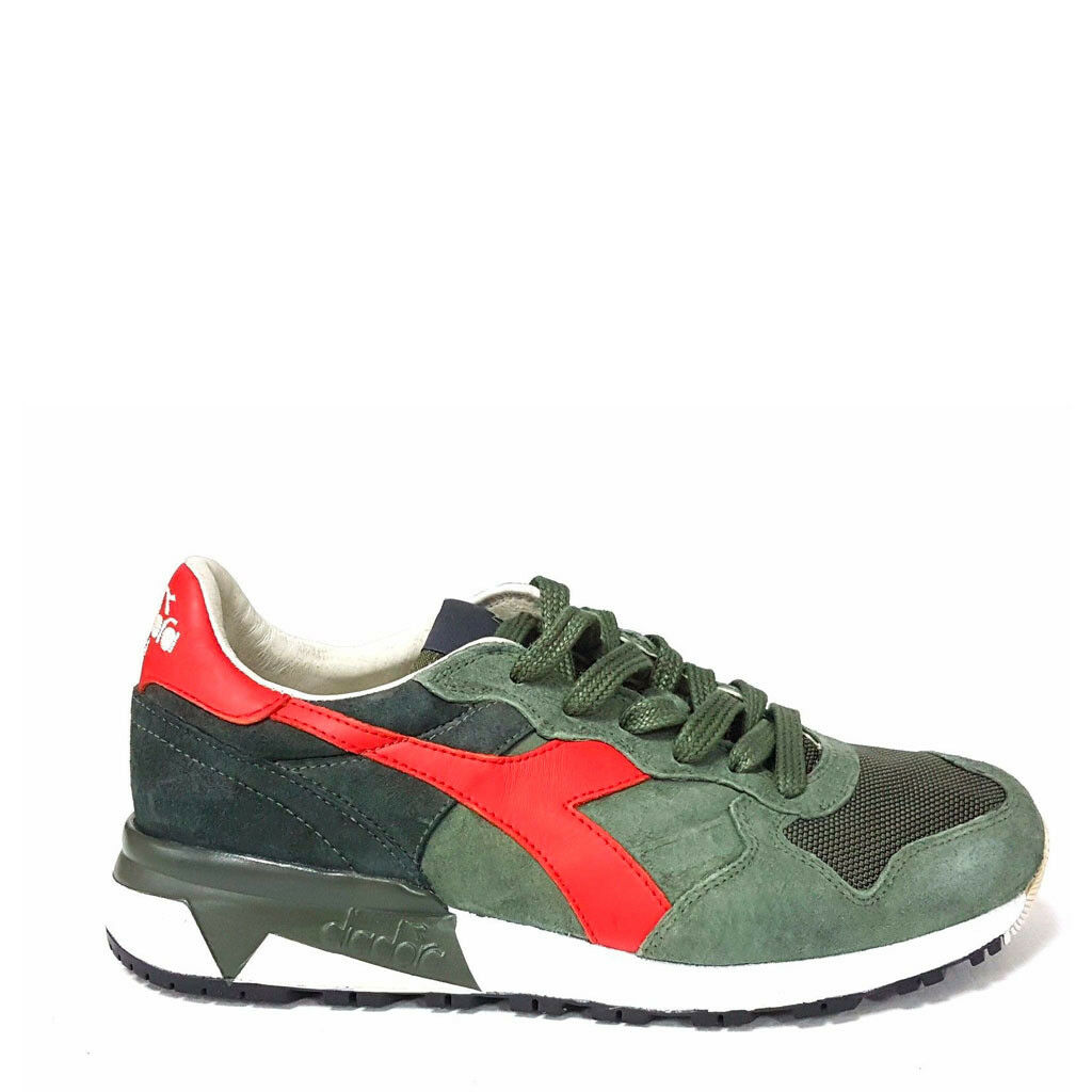 shoes Diadora Man Trident_90_S _70432_ Green Green Heritage Suede Leather