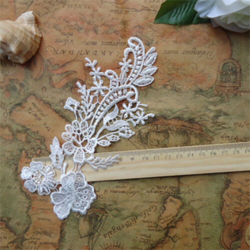 One piece flower embroidery applique patches for wedding dress decoration 78F80