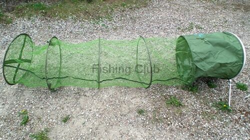 2,50 großer Setzkescher Setz Kescher Reuse Fischnetz gummiert Erdspieß  260051