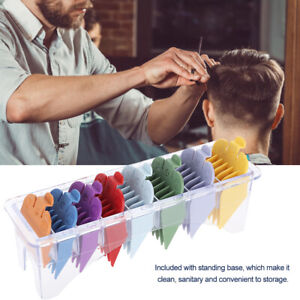 8-Sizes-Guide-Comb-Set-Rainbow-Color-Clipper-Spare-Parts-Haircut-Accessory