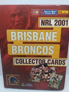 NRL Broncos 2001 collector footy cards set