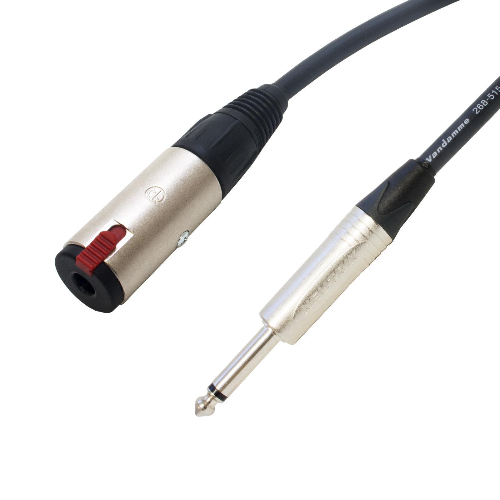 Tour Grade Van Damme SPEAKER Mono Jack Extension Socket Lead. AMP CAB Cable