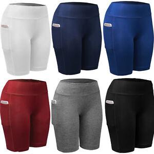 Damen-Hotpants-Shorts-Kurzehose-Sporthose-Jogginghose-Fitness-Yoga-Hose-Leggings
