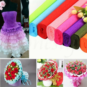 1 Roll DIY Crepe Paper Wedding Birthday Party Supplies Decoration