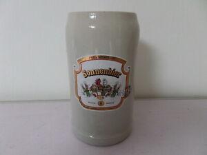 alter 1 L Bierkrug Maßkrug Brauerei Sonne Ebermannstadt