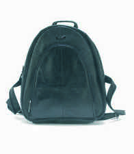 Lorenz Unisex Genuine Leather Black Backpack / Rucksack 1948