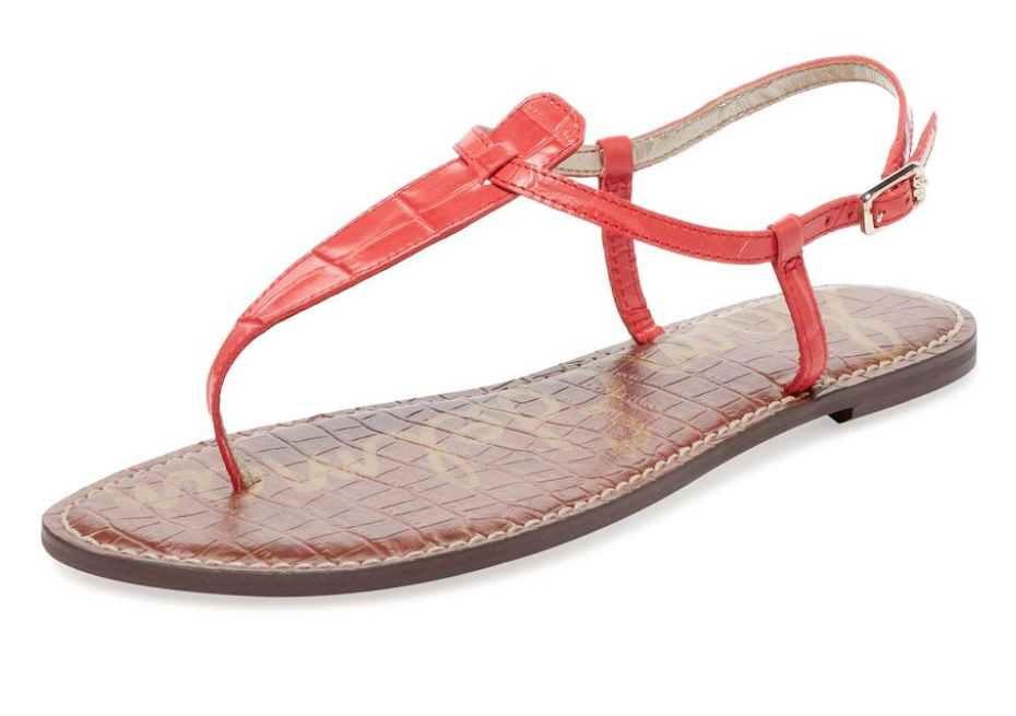 NEW NEW NEW - Sam Edelman Gigi Croc Embossed Leather Sandals 8 M 9b1d36