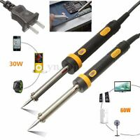 220V 30/60W Electric Temperature Welding Soldering Iron Solder Tool Plug Pencil