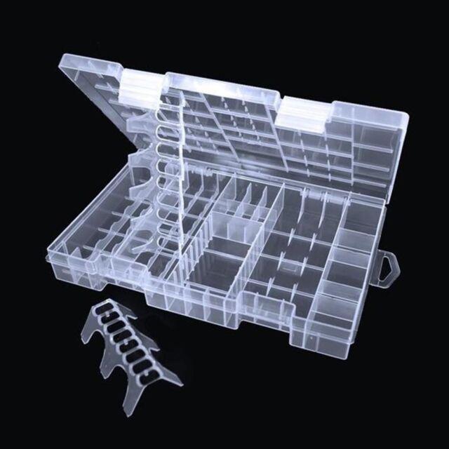 Transparent AAA/AA/C/D/9V Battery Storage Rack Battery Hard Box Holder Plastic