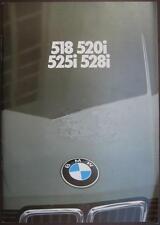 """Prospekt BMW 5er E28 1/81 """"seltener früher Erstprospekt E28)"""""""