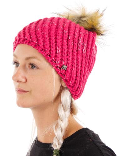 CMP Beanie Wintermütze Skimütze pink Fellbommel Fleece wärmeisolierend