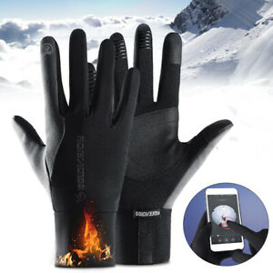Uomo-Donna-Full-Finger-Bike-Guanti-impermeabile-termico-caldo-touch-touch