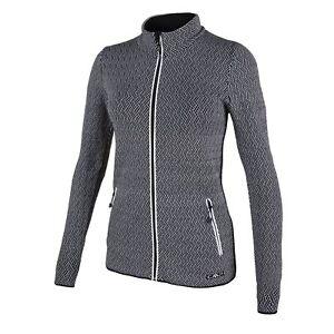 CMP-Cardigan-Collar-Jacket-Casual-Jacket-Black-Dryarn-Stretch
