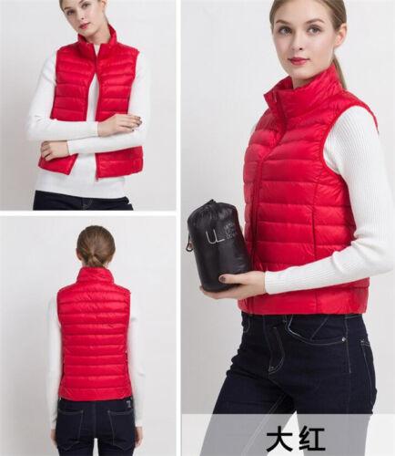 Ultralight Women's Girl Duck Down Feather Jacket Padded Coat Warm Jacket Vest