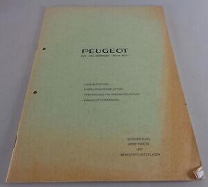 "Werkstatthandbuch Peugeot 504 USA Modelle ""Norm 71"" Stand 04/1971"