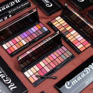 Paleta-de-maquillaje-cosmetico-de-Crema-Sombra-de-Ojos-Mate-Brillo-Set-28-Colores-Cepillo-De-Regalo
