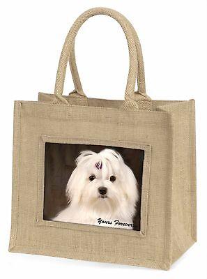 Malteser Hund  dir für immer  Große natürliche jute-einkaufstasche