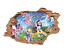 Wall Sticker Removable Vinyl Sticker My Little Pony 3D Wall Decal