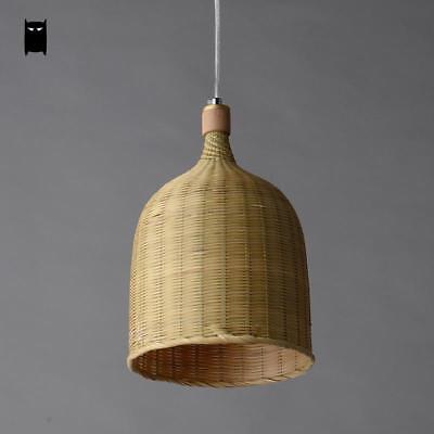 Nieuw Bamboo Wicker Rattan Bucket Pendant Light Fixture Rustic Asian YL-36