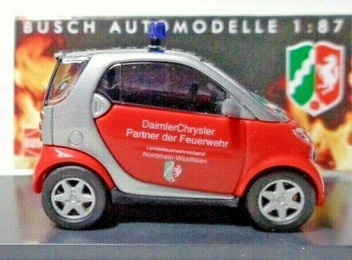 Neu Busch 489310 Smart City Coupé Feuerwehr NORDRHEIN-WESTFALEN H0 OVP