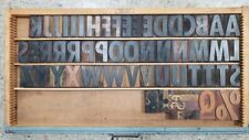 Assorted Letterpress Wood Type Font With Drawer