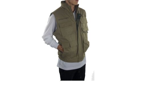 Oscar Multi-Function ALL COLORS Fishing Hunting Zipper Black Vest All Men Sizes