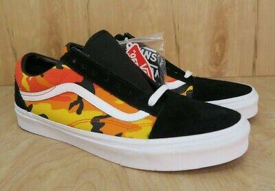 Vans Old Skool Pop Camo Black Spicy Orange Suede NEW Size 11 | eBay