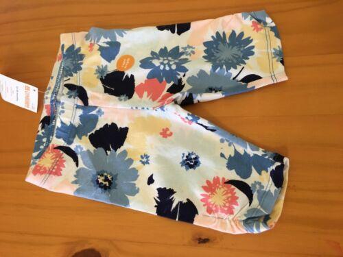 NWT Gymboree White Blue Flowers Capri Leggings Toddler Girls Outlet