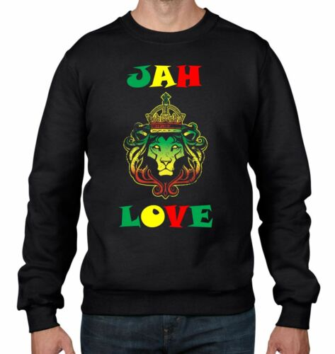 Rasta Bob Marley Jah Love Reggae Men/'s Sweatshirt Jumper