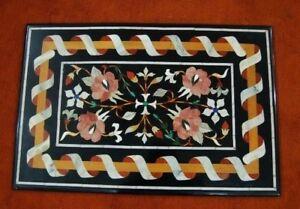 Coffee Table 36 X 24.36 X 24 Marble Side Corner Pietra Dura Coffee Table Top Inlay