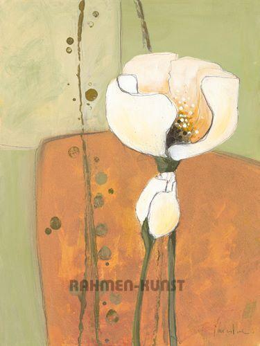 Milena MORE  L'été Fleurs II terminé-image 60x80 La Fresque Fleurs