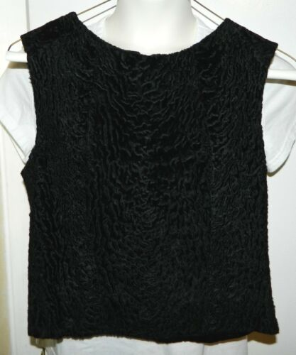 Vintage 1940's Crinkle Texture Black Silk Velvet