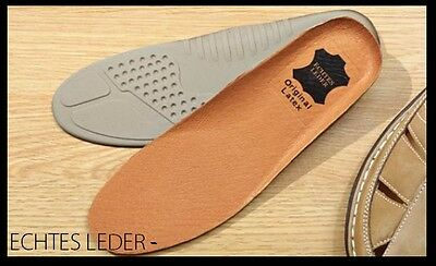 2Paar KOMFORT Ledersohlen echtes Leder Einlagen EINLEGESOHLEN Sohlen alle Größen