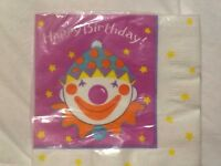 Vintage Pink Clown Girl Birthday Party Supplies Napkins Party Express