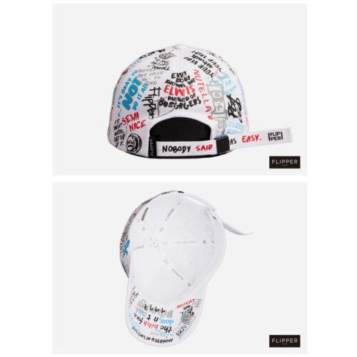 Unisexe Hommes Femmes Flipper Sketch Graffiti Casquette De Baseball Réglable Chapeau Blanc