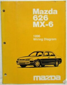 1996 Mazda 626 MX-6 Electrical Wiring Diagram | eBayeBay